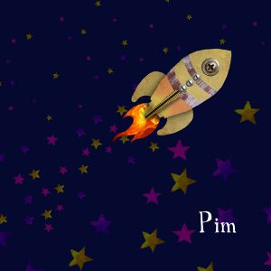 Geboortekaartje raket voor een lieve kleine jongen. De raket geboortekaartjes zijn een trend in geboortekaartjes van 2017. Ze zijn stoer, avontuurlijk en vliegt over de wereld. Want de hele wereld mag het weten! Love you to the moon and back.