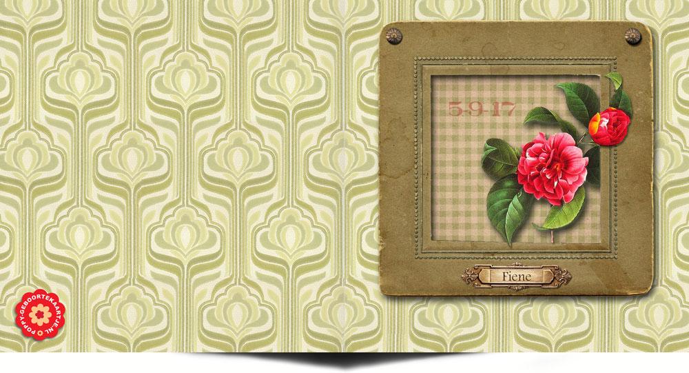 Geboortekaartje met vintage look en botanische prents, geïnspireerd door elementen van vroeger zijn er een reeks geboortekaartjes ontworpen die uitstekend passen in de nostalgische, retro èn vintage stijl.