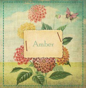 Geboortekaartje nostalgisch botanische bloemen. Een prachtig handwerk geboortekaartje met een knipoog naar vroeger.