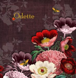 Geboortekaartje nostalgisch met botanische bloemen