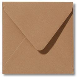 Enveloppen geboortekaartjes bruin