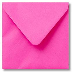 Enveloppen geboortekaartjes fuchsia roze