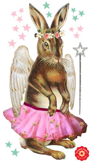 Nostalgische muursticker konijn ballet. Muursticker nostalgisch met oog voor detail. Muurstickers waarin het beste van vintage en retro samen komen. Ideaal voor vintage kinderkamer of retro speelhoekje. Afbeeldingen van zebra, beer, konijn, schaap, poes, zwaluw en nog veel meer.