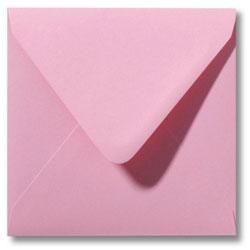 Enveloppen geboortekaartjes roze