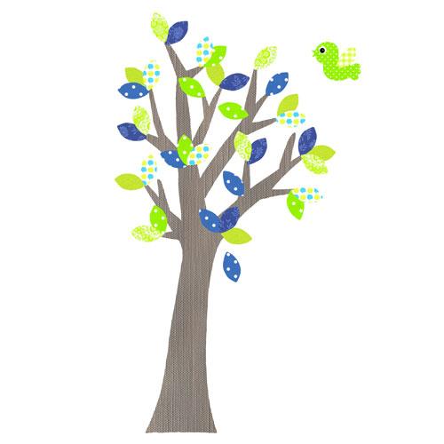 Behangboom groen kinderkamer