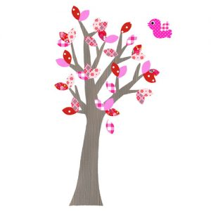 Behangboom rood roze