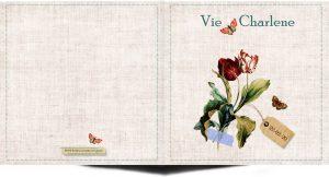 Geboortekaartje vintage met tulpen en vlinders. Een stijlvol kaartje om de geboorte aan te kondigen