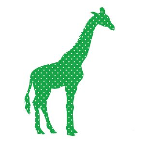 Behangdier behangbeest giraffe