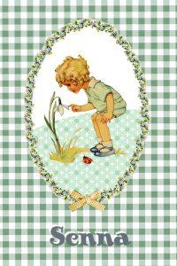 Retro geboortekaartje met retro plaatje en vrolijke kleuren. Een retro geboortekaartje met een beetje nostalgie gecombineerd met leuke printjes, kadertjes en retro details.