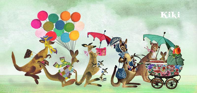 Geboortekaartje met kangoeroes die naar de pasgeboren kangoeroe komen kijken. Nostalgische geboortekaartjes van Studio POPPY zijn een feestje om naar de te kijken. De vele details waarin je de nostalgische en retro stijl herkent maken dit geboortekaartje een beetje meer bijzonder dan de rest. Vraag eens proefkaartje aan en ervaar de hoge kwaliteit van de geboortekaartjes.