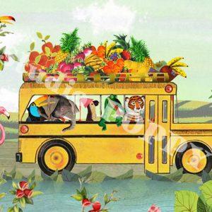 Ansichtkaart zomer op reis. Ansichtkaart met bus met dieren op reis van Studio POPPY is met veel aandacht en zorg gemaakt. Geschikt om te versturen maar ook leuk als begeleidend schrijven bij een kado. Of een ansichtkaart inlijsten misschien? Wat je er ook mee doet, met deze vrolijke ansichtkaarten maak je een ander blij.