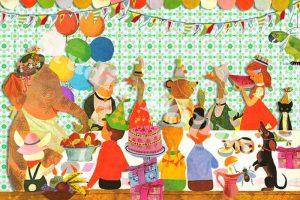 Ansichtkaart verjaardag. Ansichtkaart met taart en slingers van Studio POPPY is met veel aandacht en zorg gemaakt. Geschikt om te versturen maar ook leuk als begeleidend schrijven bij een kado. Of een ansichtkaart inlijsten misschien? Wat je er ook mee doet, met deze vrolijke ansichtkaarten maak je een ander blij.