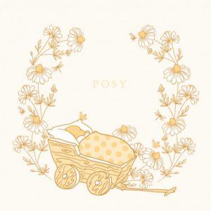 Geboortekaartje illustratie baby in wandelwagen. Fijne botanische lijntekeningen maken dit geboortekaartje erg bijzonder. In warme ton sur ton kleuren en initialen van jullie kindje heb je iets bijzonders in handen. De achtergrondkleur is eenvoudig aan te passen. Met de ontwerptool kun je jouw mooie geboortekaartje ontwerpen zoals jij dat wil.