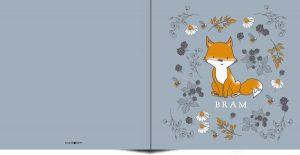 Fijne illustratie van vos en botanische takjes maken dit geboortekaartje erg bijzonder. In warme ton sur ton kleuren en initialen van jullie kindje heb je iets bijzonders in handen. De achtergrondkleur is eenvoudig aan te passen. Met de ontwerptool kun je jouw mooie geboortekaartje ontwerpen zoals jij dat wil.