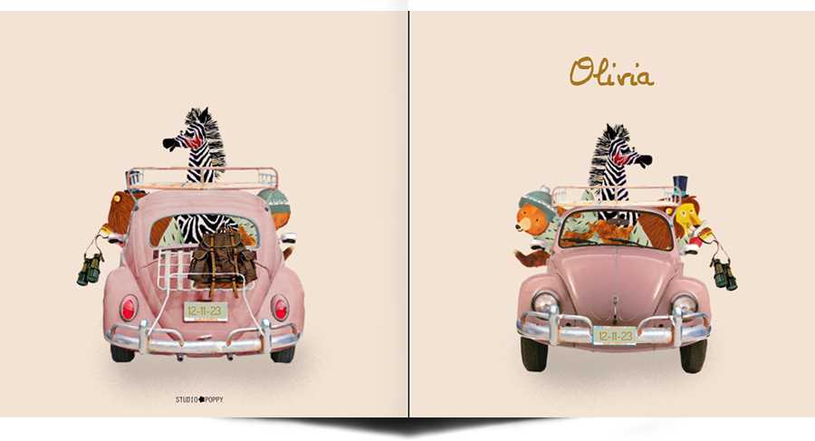 Geboortekaartje retro volkswagen is een leuk illustratief kaartje met dieren. Het retro geboortekaartje is verkrijgbaar in verschillende kleuren en je kunt zelf items toevoegen of weghalen. Zo maak je jouw eigen unieke geboortekaartje. Een proefdruk is gratis, zo kun je de kwaliteit beoordelen.