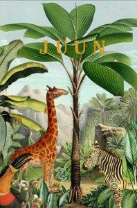 Geboortekaartje tropisch jungle is een heel bijzonder vintage geboortekaartje. Hiervan zie je niet zo snel een tweede. Alle jungle dieren zijn vertegenwoordigd in deze tropen, de giraffe, papegaai, zebra, panter en toekan. Dit vintage kaartje gaat helemaal met de laatste trends mee. Met de gratis proefdruk.