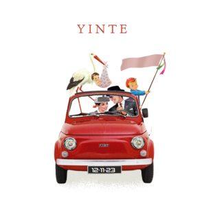 Geboortekaartje retro Fiat 500 is een leuk illustratief vintage geboortekaartje met dieren. Het retro geboortekaartje is verkrijgbaar in verschillende kleuren en je kunt zelf items toevoegen of weghalen. Zo maak je jouw eigen unieke geboortekaartje. Een proefdruk is gratis, zo kun je de kwaliteit beoordelen.