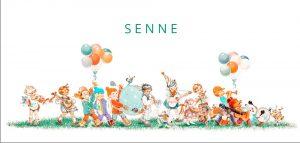 Geboortekaartje retro met kinderen in muziek parade. De trompet, trommel en gitaar mogen niet ontbreken in deze optocht onderweg naar de pasgeboren baby.